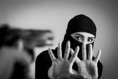 宗教暴力概念 库存照片