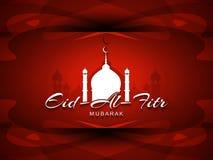 宗教Eid Al Fitr穆巴拉克背景设计 免版税库存照片