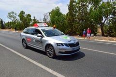 官员汽车La布埃尔塔España 免版税库存图片