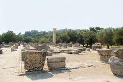 宙斯寺庙在奥林匹亚的 库存照片