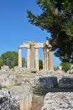 宙斯寺庙在Nemea,伯罗奔尼撒,希腊 库存图片