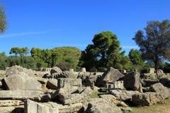 宙斯寺庙废墟  库存照片