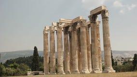 宙斯寺庙的宽看法在雅典,希腊