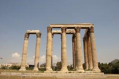 宙斯寺庙,古老结构的纪念碑。 免版税图库摄影