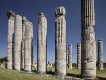宙斯寺庙,在Uzuncaburc Olba, Mersin -土耳其 免版税库存图片