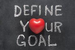 定义您的目标心脏 免版税图库摄影