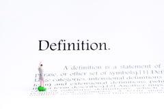 定义文本焦点词背景 库存照片