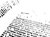 定义服务 免版税图库摄影