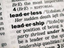 定义领导 库存图片