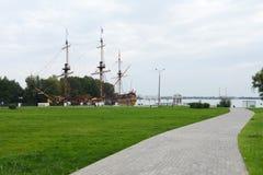 定位的宿命成为了第一艘俄国线性船,在俄罗斯建立了 图库摄影