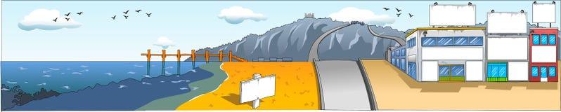 定制的海运视图 免版税库存图片