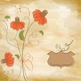 定制的花卉背景 免版税库存图片
