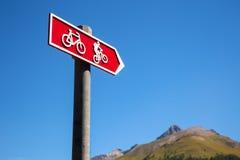 定向周期的路线签到瑞士 库存图片