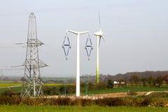 定向塔和发电 免版税图库摄影