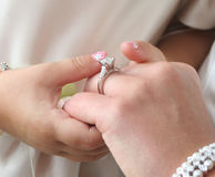 定婚戒指 库存照片
