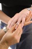 定婚戒指 图库摄影