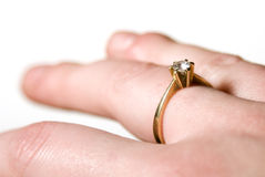 定婚戒指 库存图片