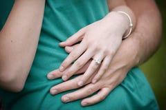 定婚戒指 免版税库存照片
