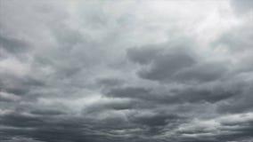 定性时间间隔阴云密布天空,没有鸟,没有忽悠 影视素材