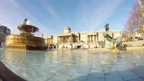 定期流逝特拉法加广场,伦敦,英国 影视素材