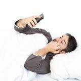 定期的睡眠睡过头 免版税图库摄影