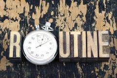 定期词手表 图库摄影