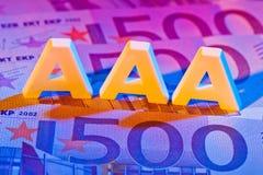 定额机构的AAA。 aaa 免版税库存照片