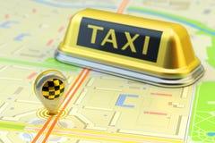 定购出租车网上网路服务,运输概念 库存照片