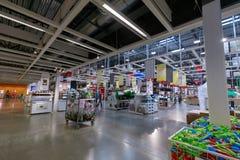 宜家商店的内部在波特兰,俄勒冈 宜家是世界的最大的家具零售商 库存图片