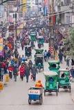 宜宾,中国的繁忙的中心 免版税图库摄影