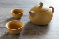 宜兴黏土茶具  免版税库存照片