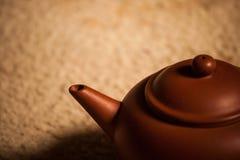 宜兴黏土茶壶 库存照片