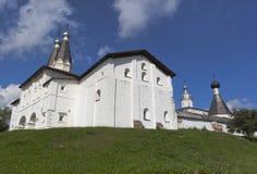 财宝房间Ferapontov修道院 Ferapontovo, Kirillov,沃洛格达州地区,俄罗斯区  免版税库存照片