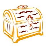宝物箱或锁着的箱子 皇族释放例证
