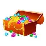 宝物箱 向量例证