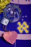 宝瓶星座占星术符号 库存图片