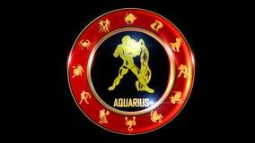 宝瓶星座印地安黄道带标志 向量例证