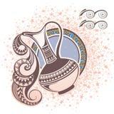宝瓶星座 艺术品设计符号符号十二多种黄道带 向量例证