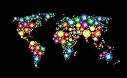 宝石世界地图 皇族释放例证