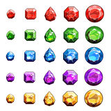 宝石和被设置的金刚石象 免版税库存图片