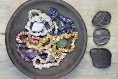 宝石和水晶 免版税库存照片