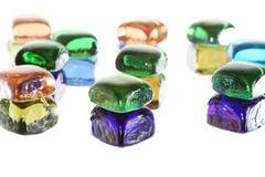 宝石庭院石头的背景模式 图库摄影
