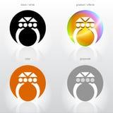宝石环形风格化符号 图库摄影