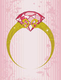 宝石环形 库存例证