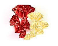 宝石-黄色和红色 库存图片