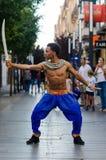 宝莱坞舞蹈家 免版税库存照片