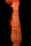 财宝(Al Khazneh)的第一视域在Petra 库存图片