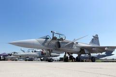 绅宝JAS-39 Gripen喷气式歼击机 免版税库存照片