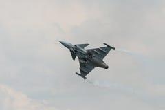 绅宝JAS 39 Gripen航空器 免版税库存照片