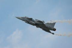 绅宝JAS 39 Gripen航空器 库存照片